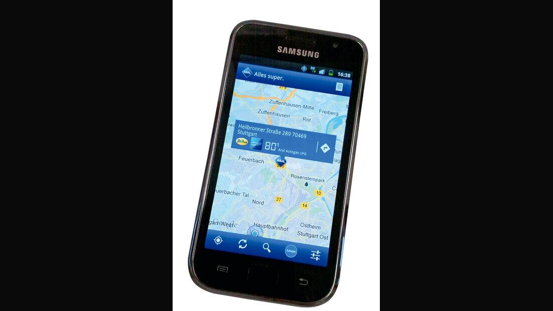 Mobile, Handy, App, Tankstellenanzeige