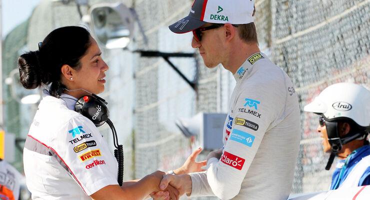 Monisha Kaltenborn & Nico Hülkenberg - GP Japan 2013
