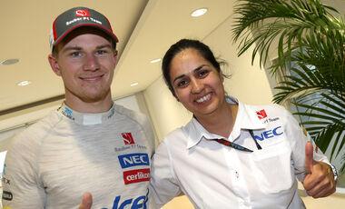 Monisha Kaltenborn & Nico Hülkenberg - Sauber - GP Korea 2013