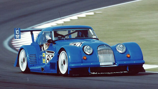 Morgan Plus 8 Big Blue Rennwagen
