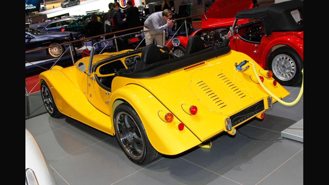 Morgan Plus E Electric Car, Autosalon Genf 2012, Messe