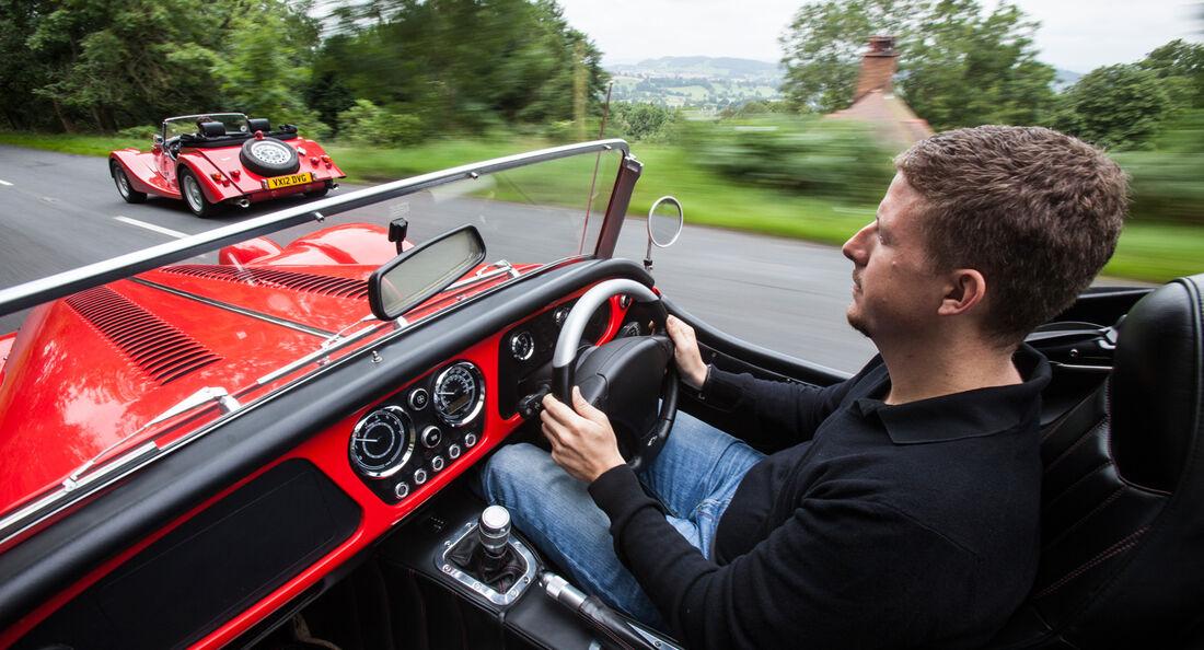 Morgan Roadster V6, Morgan Plus 8, Cockpit
