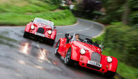 Morgan Roadster V6, Morgan Plus 8, Frontansicht