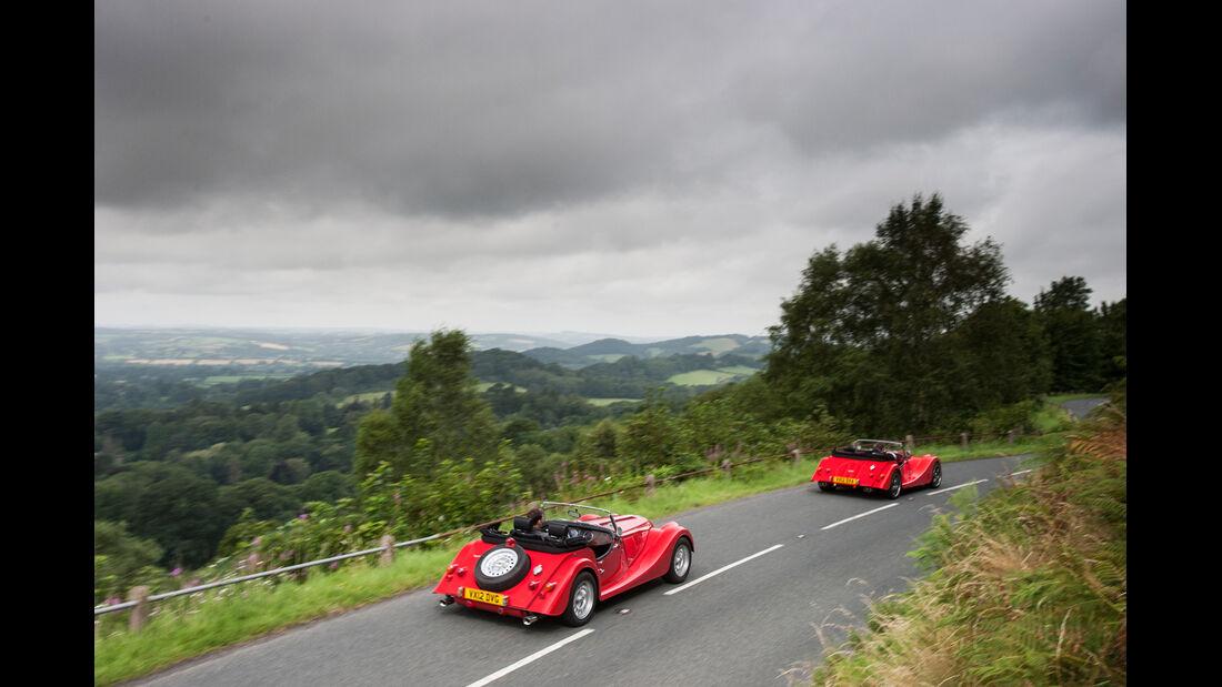 Morgan Roadster V6, Morgan Plus 8, Heckansicht
