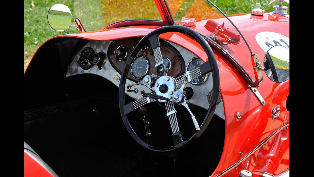 Morgan Super Sports, Cockpit, Lenkrad