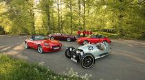 Morgan Threewheeler, Porsche 911 Targa SC, BMW Z8, Rolls-Royce Dawn