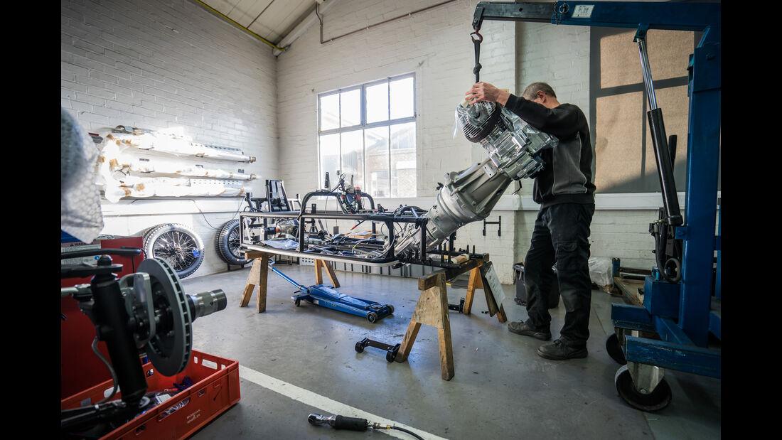 Morgan Threewheeler, Werkstatt