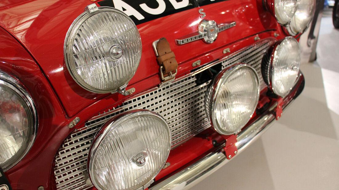 Morris Mini Cooper S Rally Car im British Motor Museum