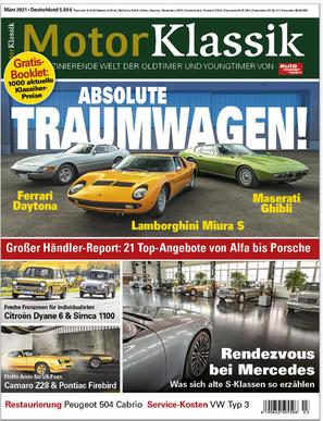 Motor Klassik 03/2021 Titel Heftvorschau