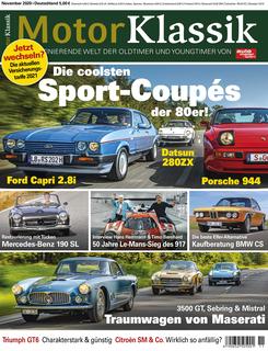 Motor Klassik 11/2020 Titel