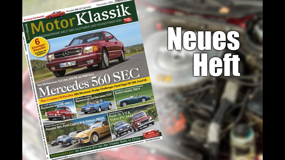 Motor Klassik 12 2016 Heftvorschau