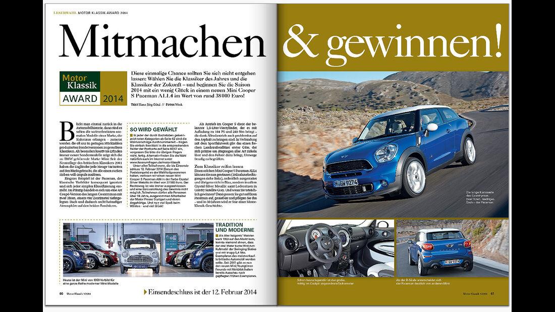 Motor Klassik Ausgabe 01/2014 Heftvorschau