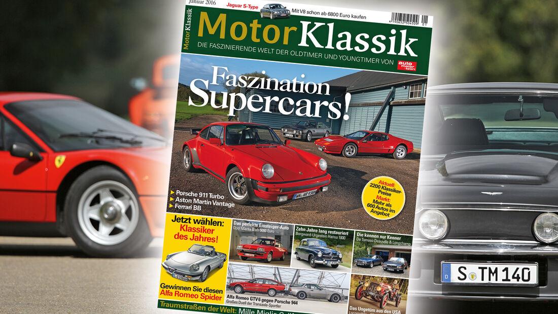Motor Klassik Heftinhalt Ausgabe 01/2016