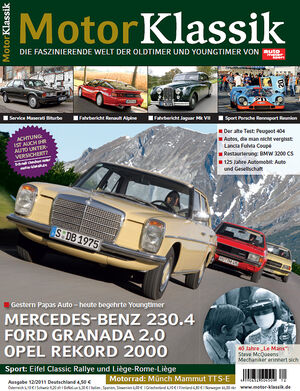 Motor Klassik - Hefttitel, Titel  12/2011