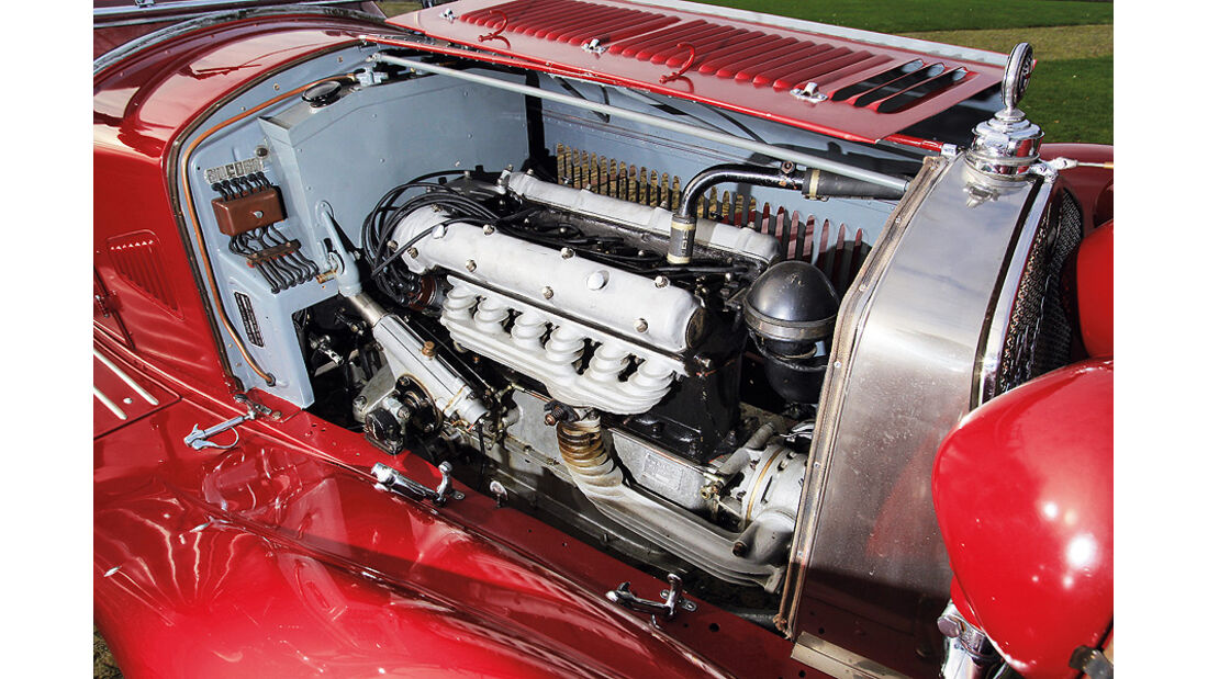 Motor des Alfa Romeo 6C 1750 GS