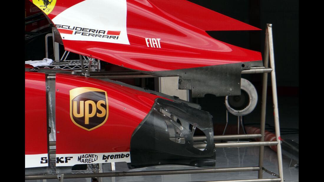 Motorabdeckung Ferrari - Formel 1 - GP Bahrain - 18. April 2013