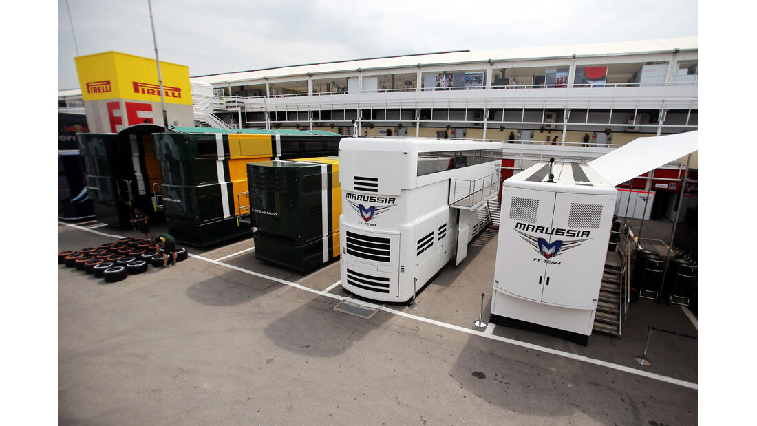Motorhomes - Formel 1 - GP Spanien - 9. Mai 2013