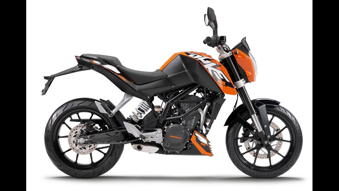 Motorrad 48 PS KTM 200 Duke
