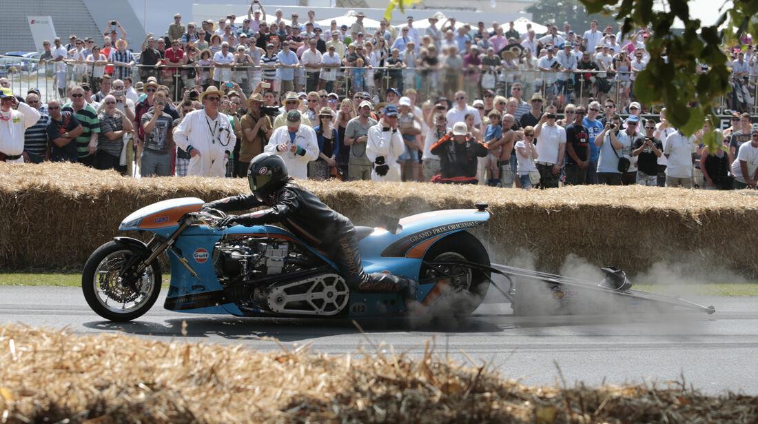 Motorrad Dragster - Goodwood 2013