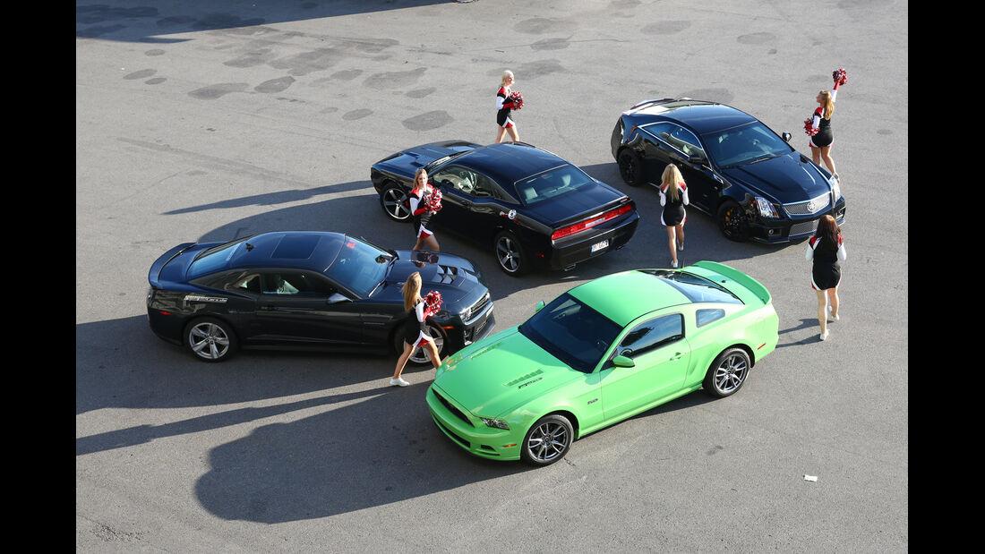 Muscle-Cars,verschiedene Modelle