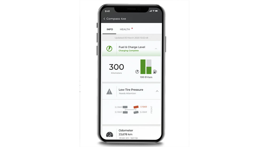 My Uconnect, App Jeep