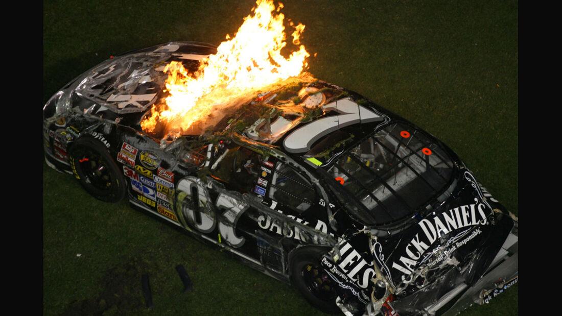 NASCAR-Feuer-Crash