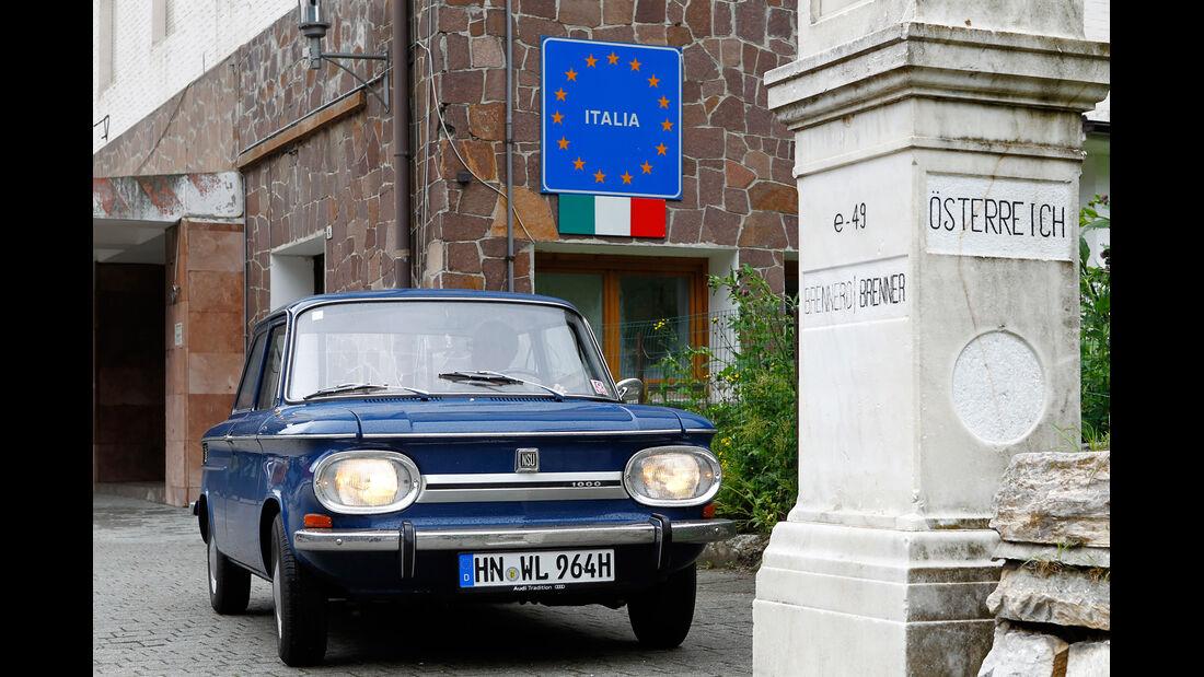 NSU 1000 C, Italienreise