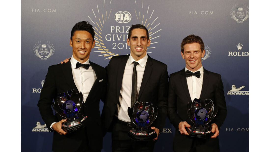 Nakajima - Buemi - Davidson - FIA Preisverleihung - Versailles