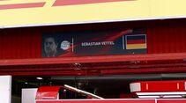 Namenstafeln - Sebastian Vettel - GP Spanien - Formel 1 - 10. Mai 2017