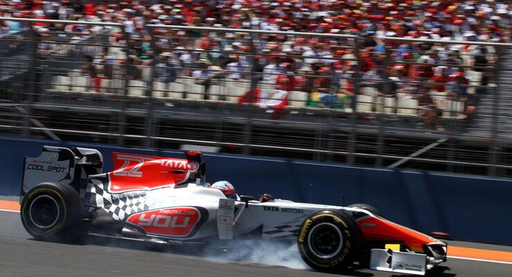 Narain Karthikeyan GP Europa Valencia 2011