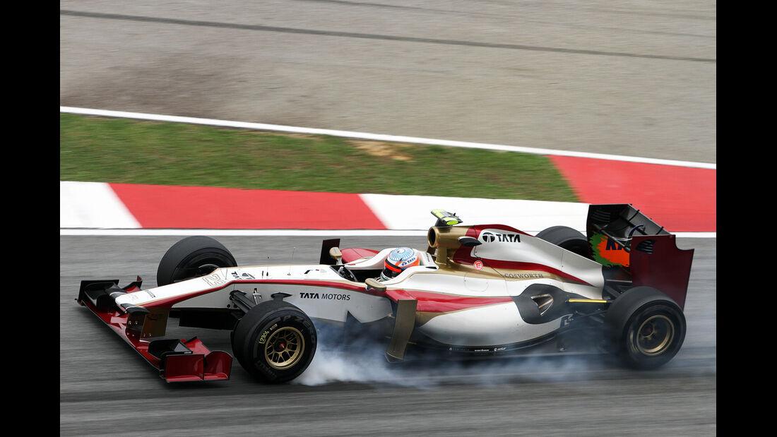 Narain Karthikeyan - HRT - GP Malaysia - 24. März 2012