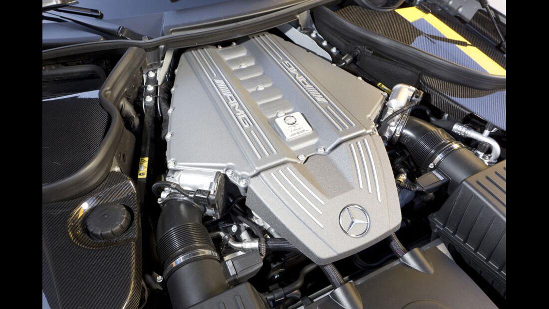Nardo Highspeed-Test 2010, Mercedes SLS AMG, Motor