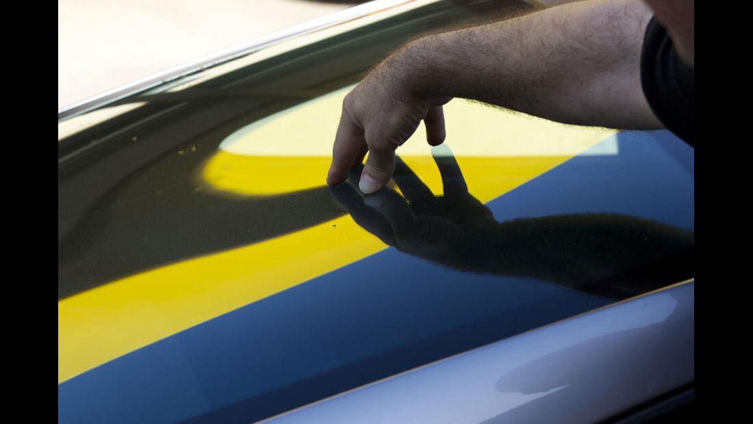 Nardo Highspeed-Test 2010, Porsche 911 GT2 RS, Plexiglas-Heckscheibe
