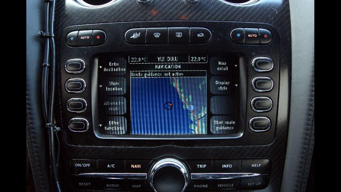 Navigationssystem, Bentley Continental Supersports Convertible ISR, Finnland