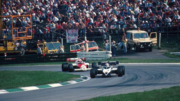 Nelson Piquet - Brabham BT53-BMW - Niki Lauda - McLaren MP4/2 - GP Österreich 1984