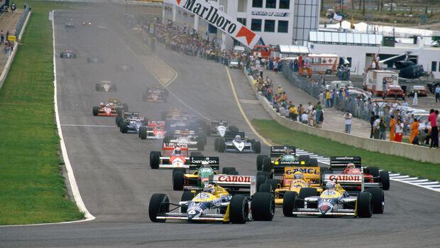 Nelson Piquet - Nigel Mansell - Williams FW11B - Ayrton Senna - Lotus 99T - GP Spanien 1987 - Jerez
