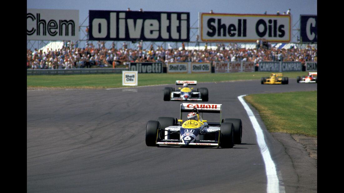 Nelson Piquet - Nigel Mansell -Williams Honda FW11B - Williams Honda FW11B - GP England 1987