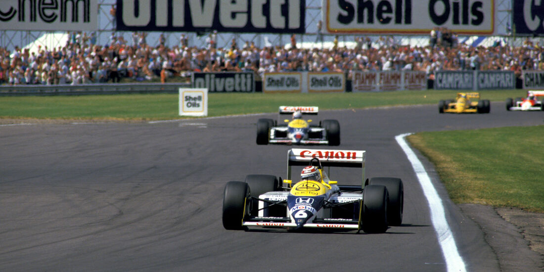 Nelson Piquet - Nigel Mansell -Williams Honda FW11B - Williams Honda FW11B - GP England 1987