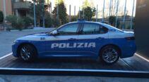 Neue Alfa Romeo Giulia im Polizei-Design