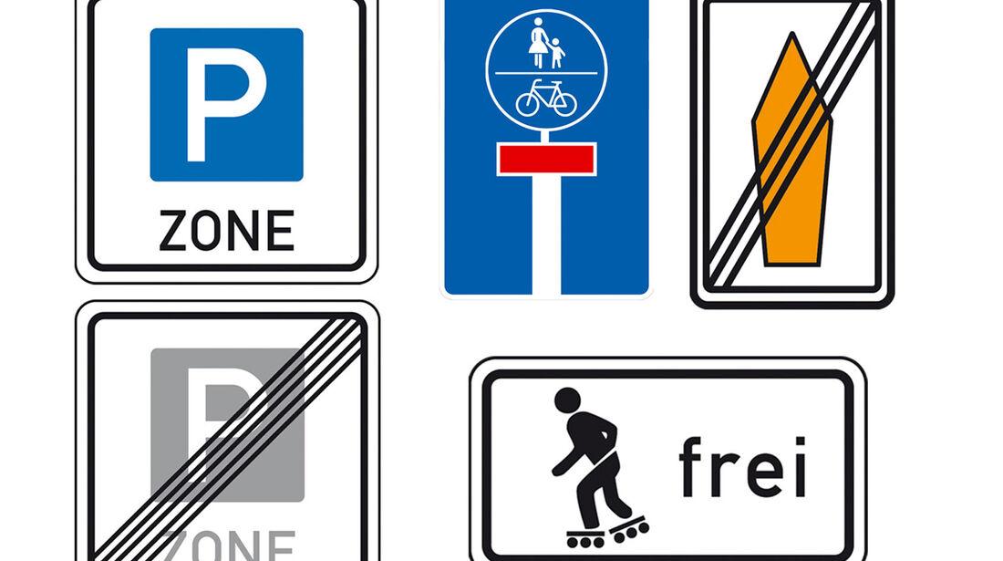 Neue Verkehrsschilder