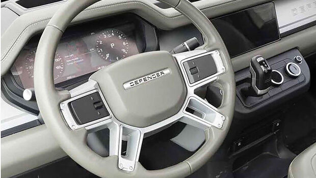 Neuer Land Rover Defender Innenraum