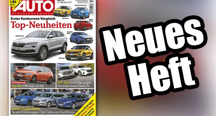 Neues Heft AUTOStrassenverkehr, Ausgabe 23/2017