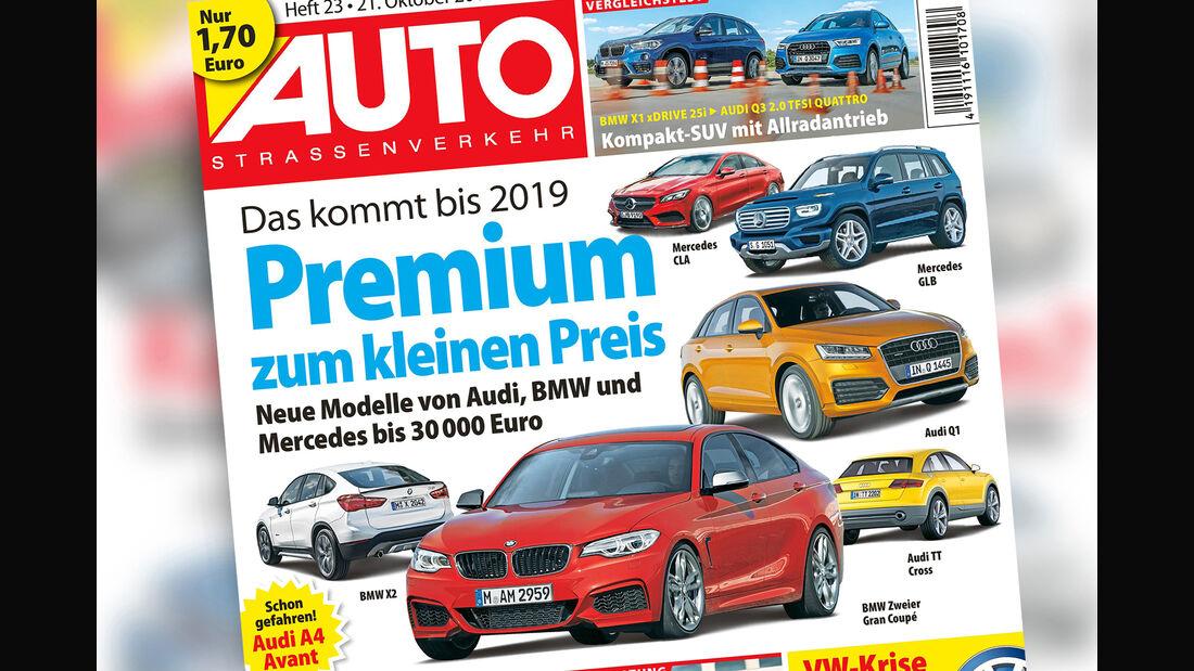 Neues Heft AutoStraßenverkehr, 23/2015, Vorschau, Preview