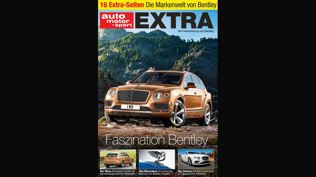Neues Heft, Oversize-Beilige Bentley, auto motor und sport 25/2015