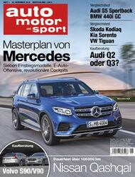 Neues Heft, auto motor und sport, Ausgabe 01/2017, Vorschau, Preview