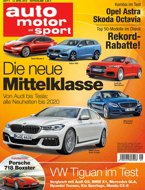 Neues Heft auto motor und sport, Ausgabe 09/2016, Vorschau, Preview