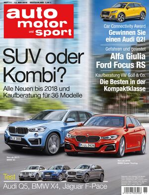 Neues Heft auto motor und sport, Ausgabe 11/2016, Vorschau, Preview