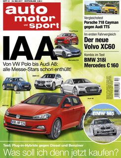 Neues Heft auto motor und sport, Ausgabe 12/2017, Vorschau