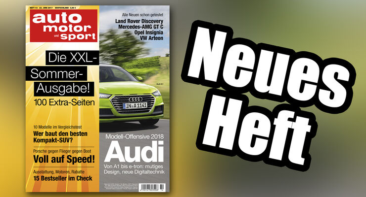 Neues Heft auto motor und sport, Ausgabe 14/2017, Vorschau