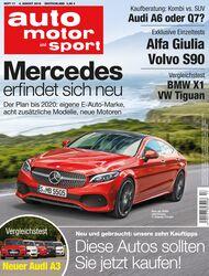 Neues Heft auto motor und sport, Ausgabe 17/2016, Vorschau, Preview